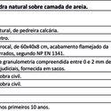 Quadro de custos de lajetas de pedra natural