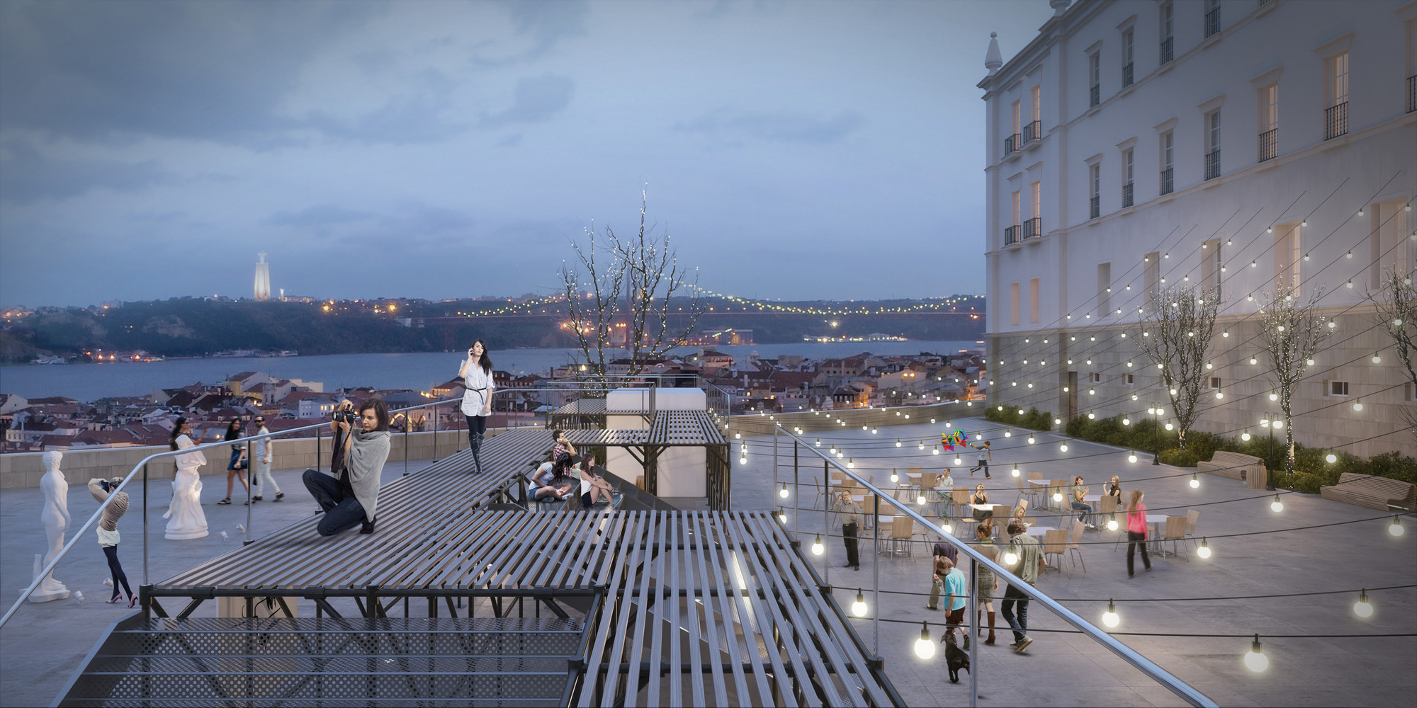 """Urban Platform"" Wins First in Lisbon Open Room Competition, Courtesy of Bumjin Kim, Minyoung Kim"