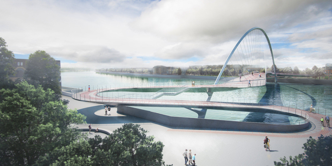 4 Teams Shortlisted In Nine Elms Bridge Competition, Courtesy of Nine Elms Vauxhall Partnership