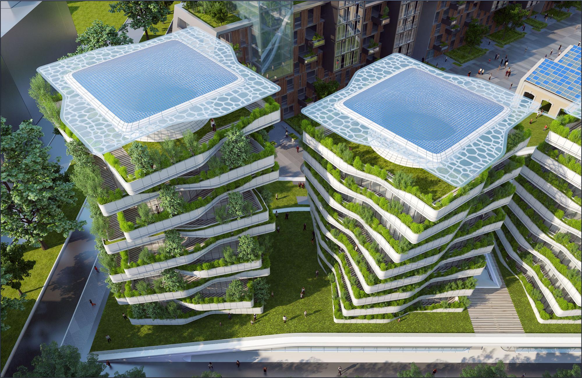 Gallery of citt della scienza masterplan predicts future for Architecture organique
