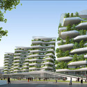 View toward Hotel. Image Courtesy of Vincent Callebaut Architecture