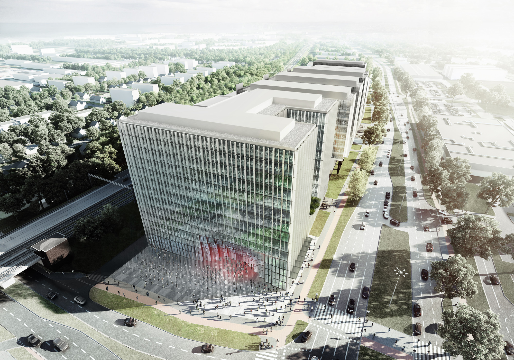 office block design. KAMJZ And Kurylowicz Designs Polish Office Building, Courtesy Of + Kuryłowicz \u0026 Associates Block Design N