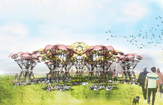 "Izaskun Chinchilla Turns to Kickstarter to Realize ""Organic Growth"" Pavilion, Courtesy of Izaskun Chinchilla Architects"