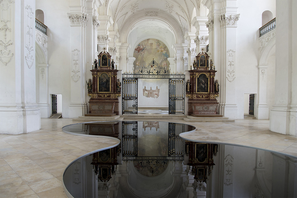 New Readings Of Space: Placing Pools Of Oil Inside A Baroque Abbey Church, © We Find Wildness