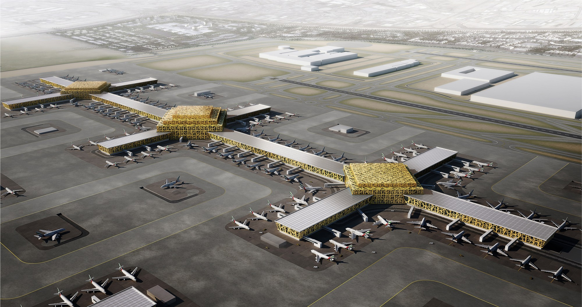 Leslie Jones Architecture to Design International Airport for Dubai World Central, Courtesy of Leslie Jones Architecture