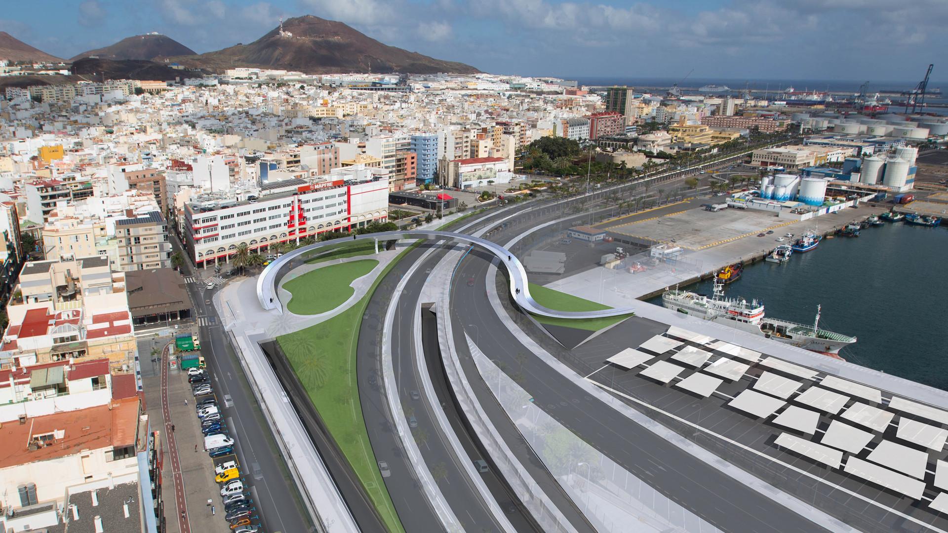Propuesta Istmo, Primer Lugar por pasarela que reforzará relación de Las Palmas con su puerto, Cortesia de Equipo Primer Lugar