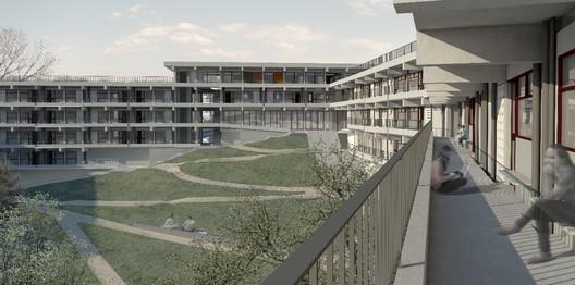1° Pré-classificado no concurso para Osasco - Hereñú + Ferreni Arquitetos . Image Cortesia de IAB-SP
