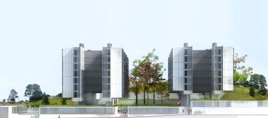 2° Pré-classificado no concurso para Osasco - Grupo SP Arquitetos. Image Cortesia de IAB-SP