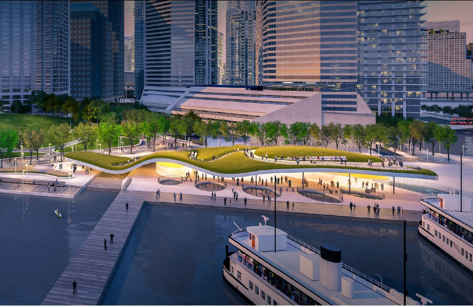 5 Proposals Reimagine Toronto Ferry Terminal and Waterfront Park, Harbour Landing Ferry Terminal / KBMP Architects, West 8, Greenburg Consultants. Image Courtesy of WATERFRONToronto