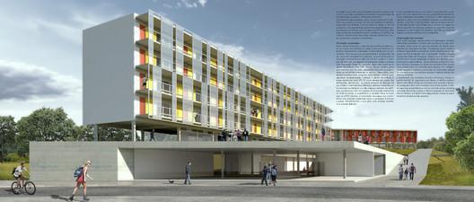 2° Pré-classificado no concurso para São José dos Campos - Projeto Paulista de Arquitetura . Image Cortesia de IAB-SP