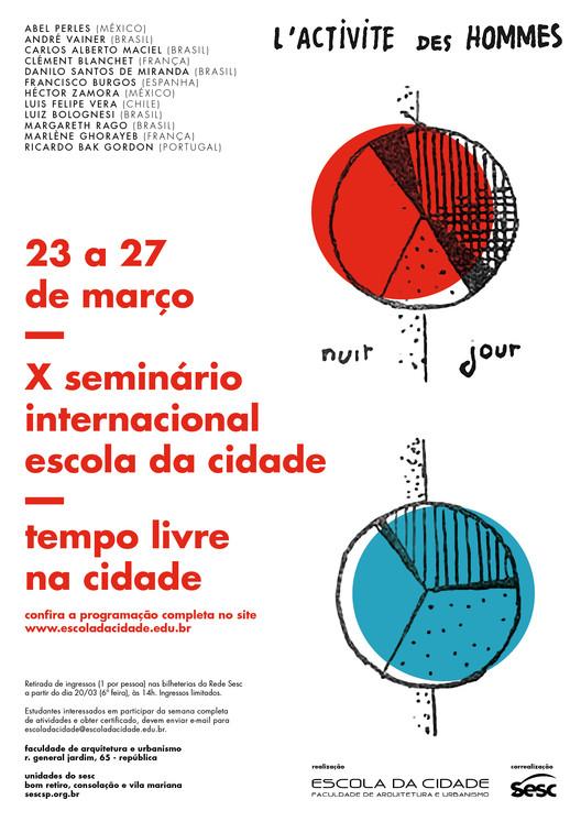 """Escola da Cidade promove o """"X Seminário Internacional: Tempo Livre na Cidade"""", Cortesia de Escola da Cidade"""
