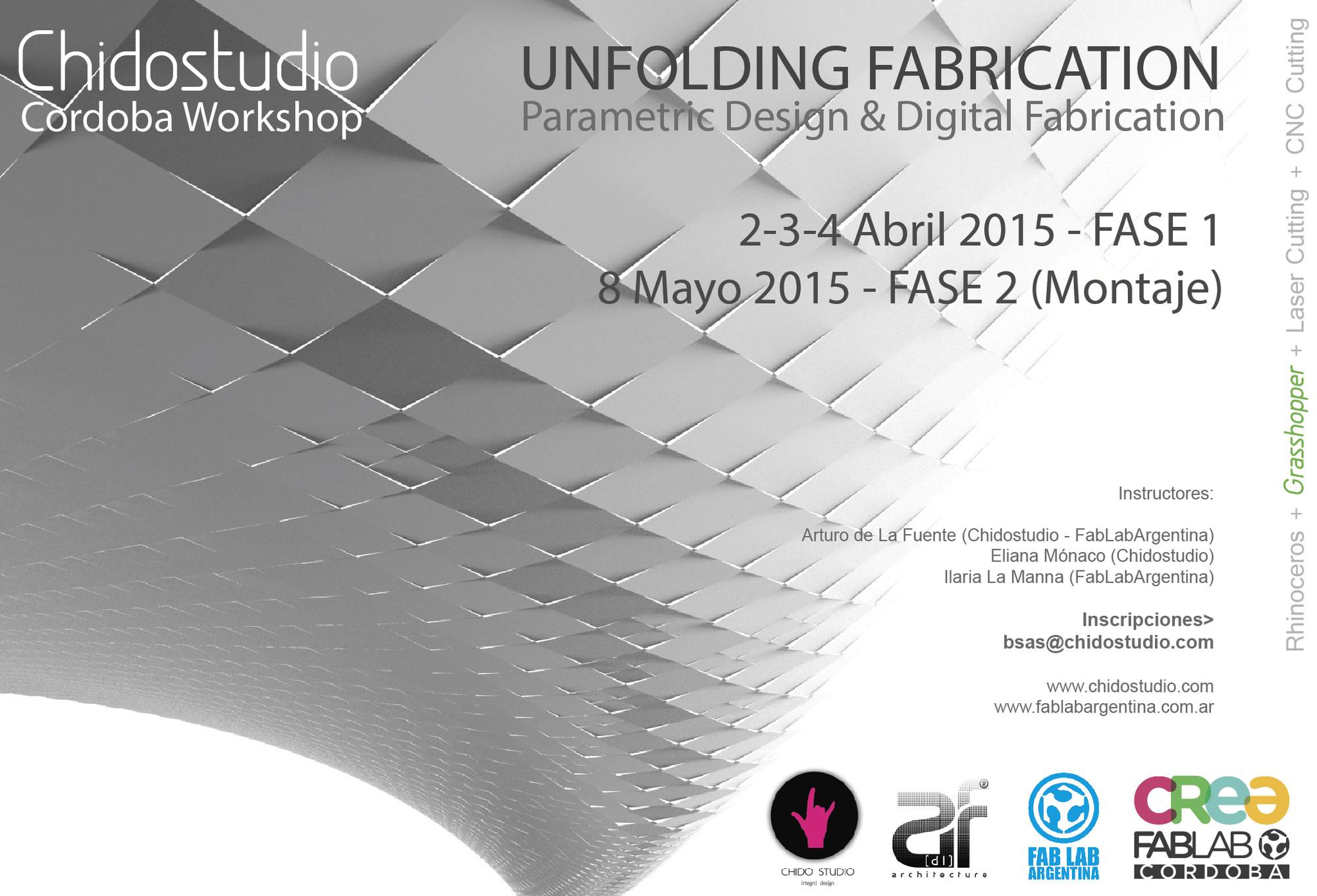 Workshop Chidostudio 'Unfolding Fabrication' en Córdoba / ¡Sorteamos un cupo! [cerrado]