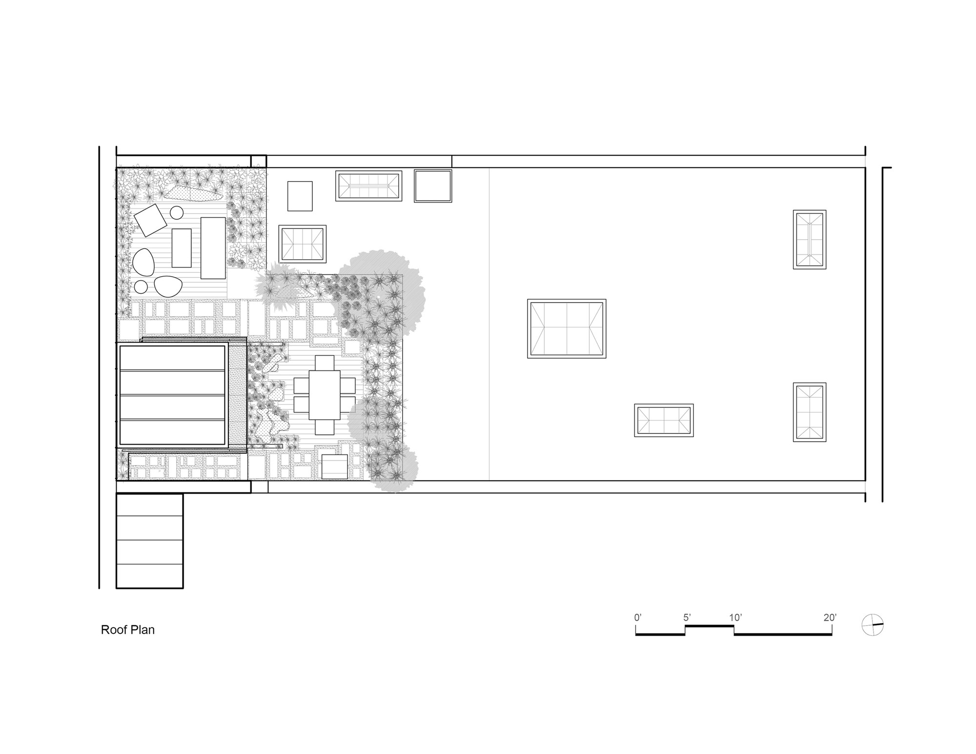 Tribeca Loft / Andrew Franz Architect. 11 / 12. Roof Plan