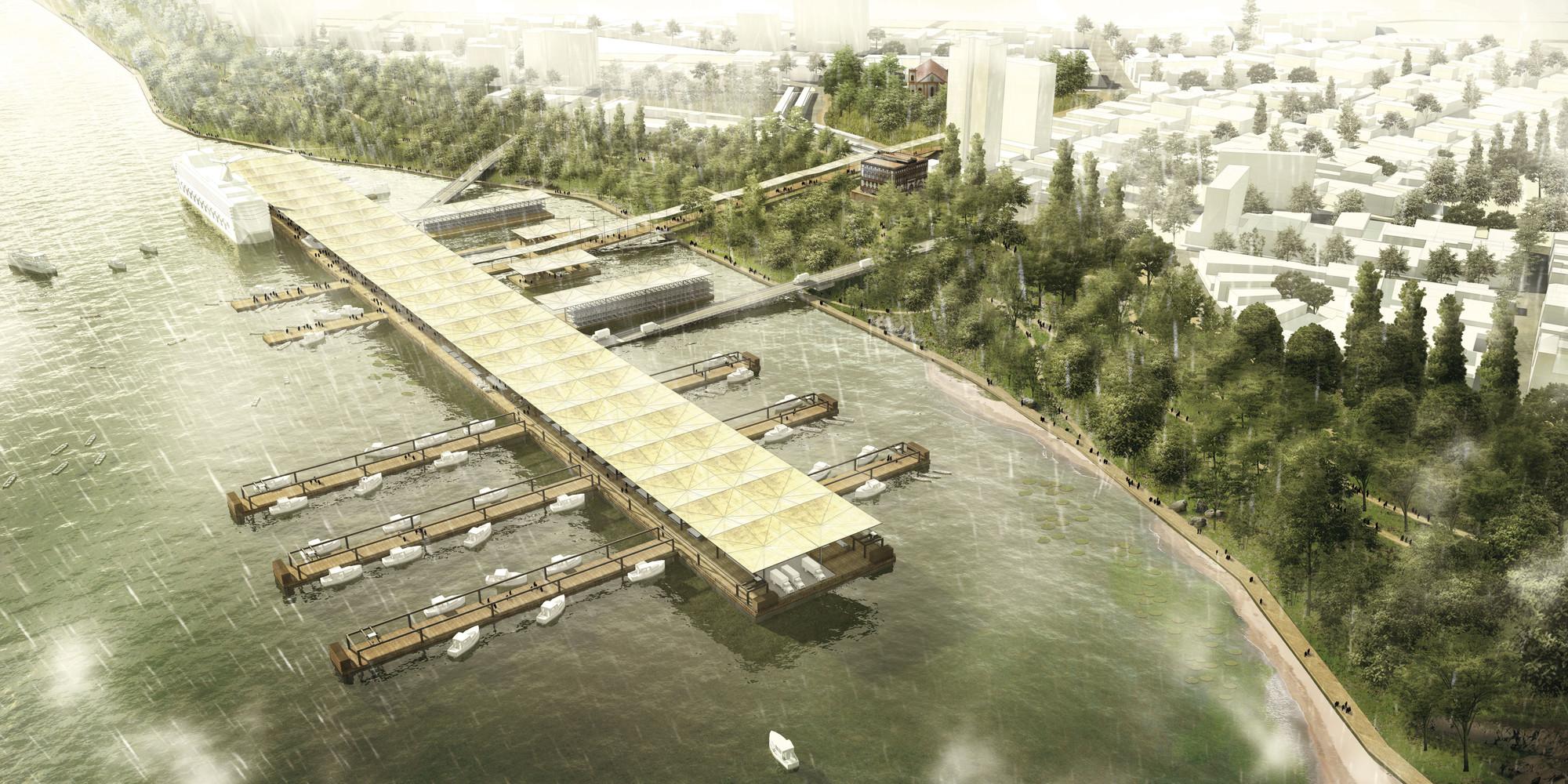 """""""Salada de Frutas"""", a dissolução entre infraestrutura, arquitetura e território urbano, Cortesia de Estudio mono"""