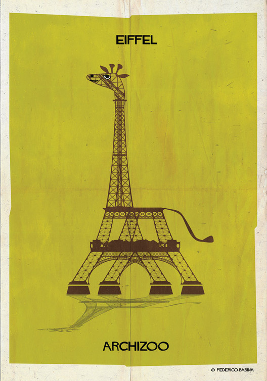 ARCHIZOO: Animais ilustrados a partir de formas arquitetônicas, por Federico Babina