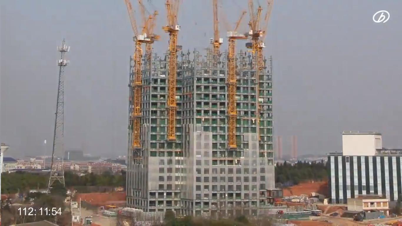 compañía china construye rascacielos de 57 pisos en 19 días