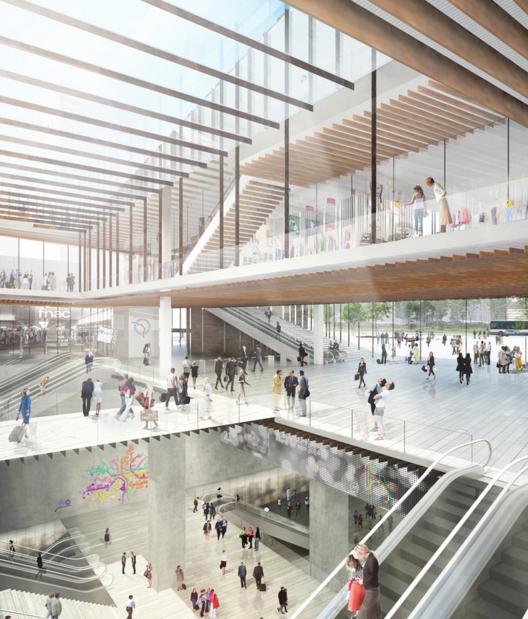 Kengo Kuma gana concurso para diseñar una estación de metro en París, © Kengo Kuma & Associates