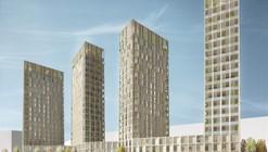 Tham & Videgård proponen viviendas en altura en madera para Estocolmo