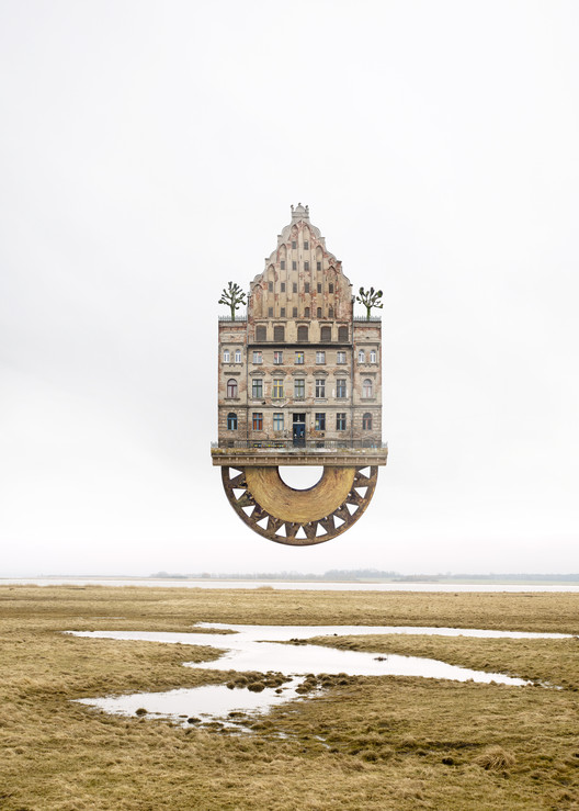 Arte y Arquitectura: collages surrealistas de arquitectura por Matthias Jung , Expedition to the East Pole. Imagen © Matthias Jung