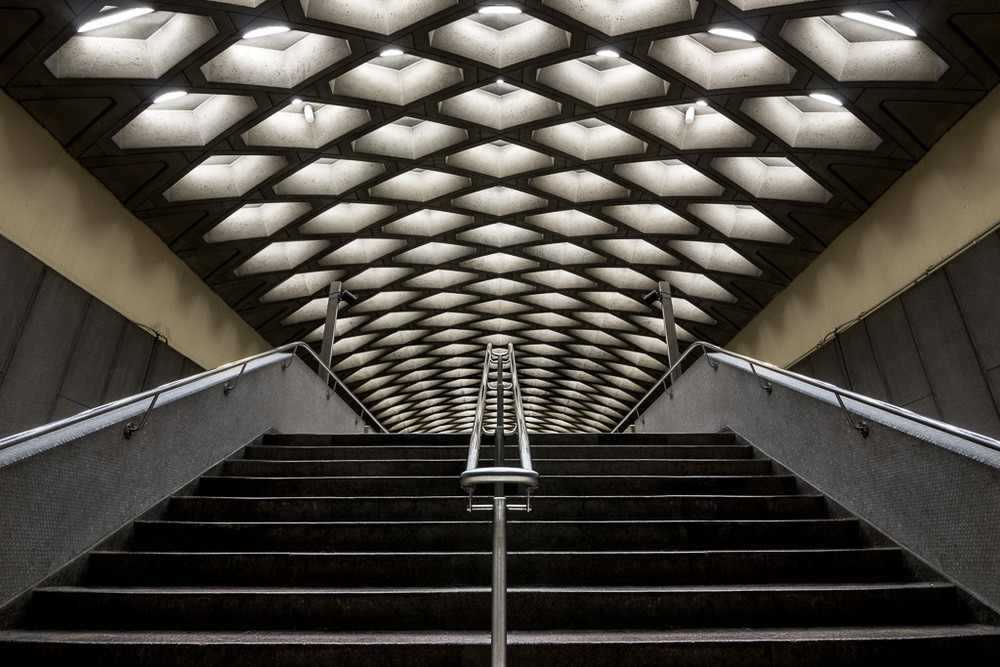 Architecture Photography Montreal photographer chris forsyth on the montreal metro, going