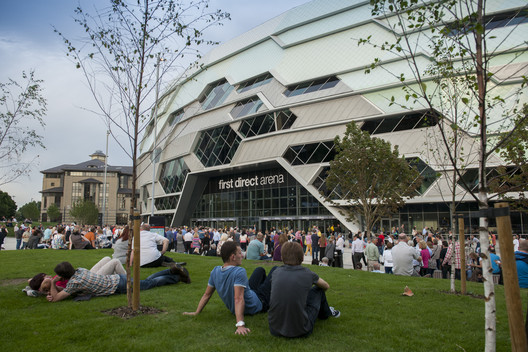 First Direct Arena, Leeds / Populous. Imagem © Giles Rocholl