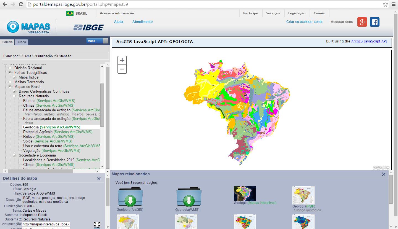 IBGE disponibiliza mais de 22 mil mapas online, Imagem via labgis.uerj.br