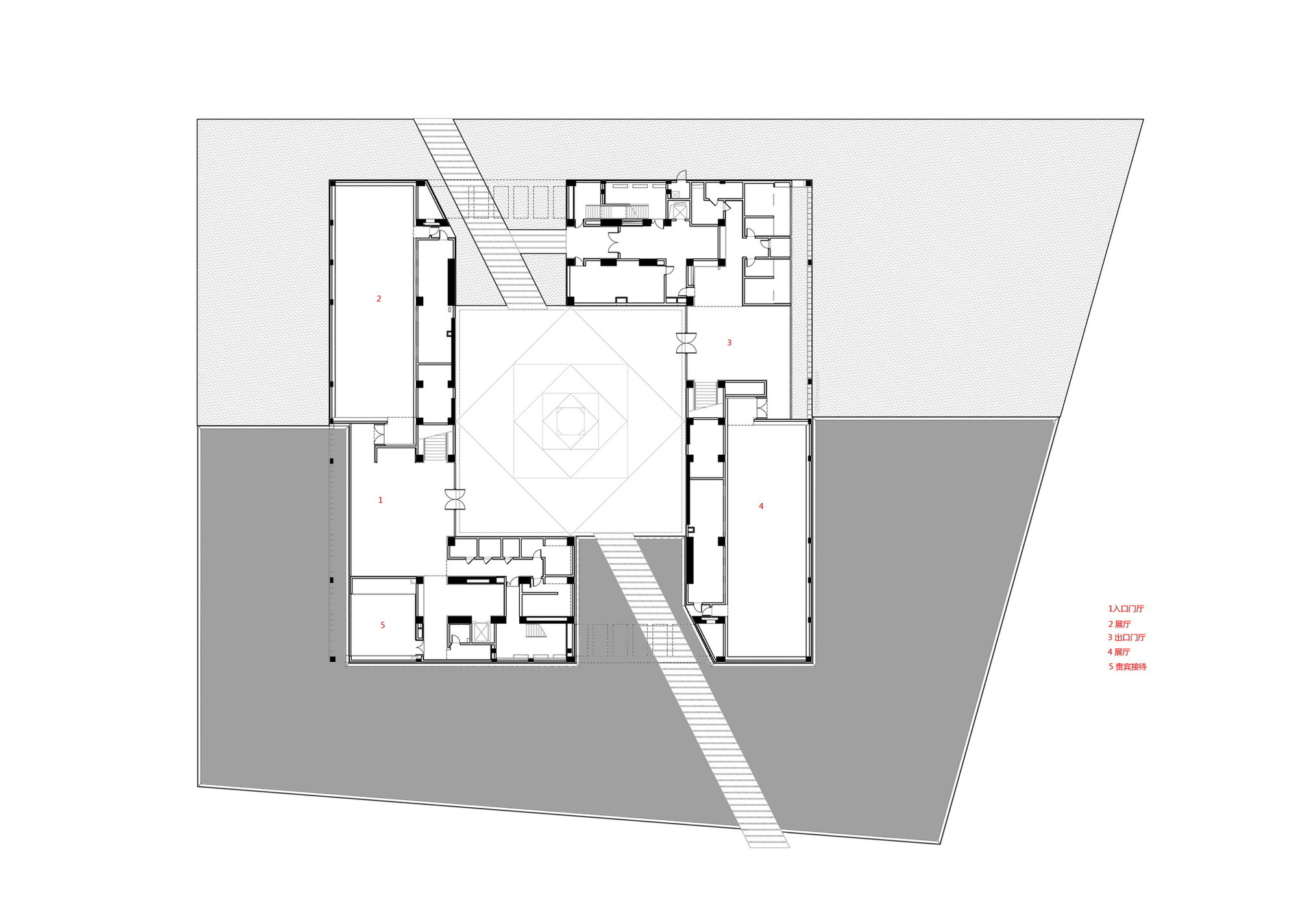 Gallery of fan zeng art gallery original design studio 24 for Art studio plans