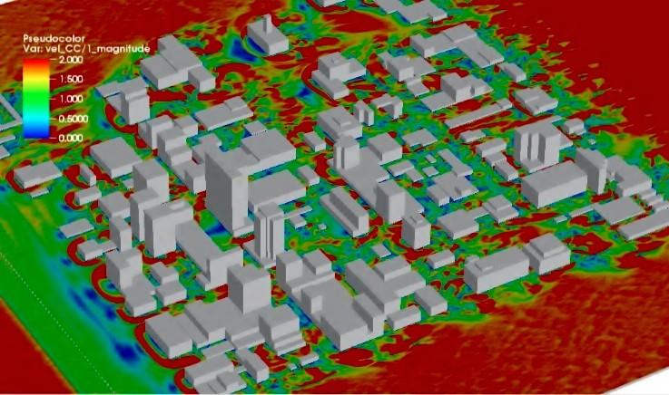 Como supercomputadores estão definindo o futuro das cidades, © Arash Nemati Hayati, Departamento de Engenharia Mecânica, University of Utah via XSEDE