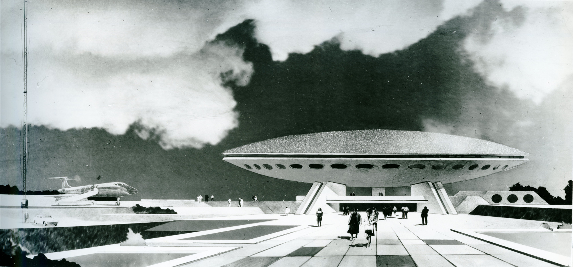 """Superstructure"": 11 Projects That Defined Kiev's Soviet Modernism, Pavilion ""Transport"", from the Exhibition of Achievements of the National Economy of USSR. Image Courtesy of Valentyn Shtolko"