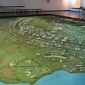 A model of the proposed Brasilia. Imagen cortesía de O Espaço Lúcio Costa