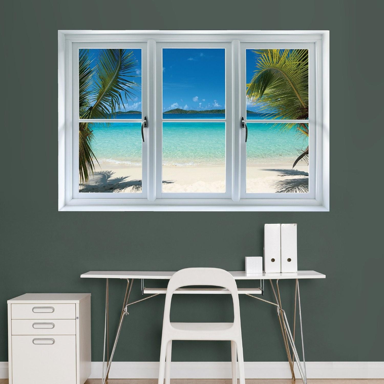 Good Virgin Islands Beach Scenic Window Decal by Fathead Image via Amazon
