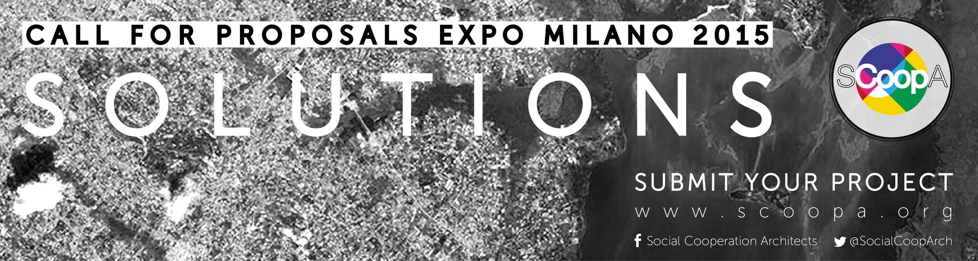 Chamada de trabalhos para a Expo Milão 2015, Cortesia de Social Cooperation Architects (SCoopA)