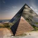 """Mención honrosa: """"Bio-Pyramid: Reversing Desertification"""" / David Sepulveda, Wagdy Moussa, Ishaan Kumar, Wesley Townsend, Colin Joyce, Arianna Armelli, Salvador Juarez.  Imagen cortesía de eVolo"""