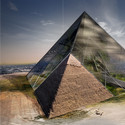 "Honorable Mention: ""Bio-Pyramid: Reversing Desertification"" / David Sepulveda, Wagdy Moussa, Ishaan Kumar, Wesley Townsend, Colin Joyce, Arianna Armelli, Salvador Juarez. Image Courtesy of eVolo"