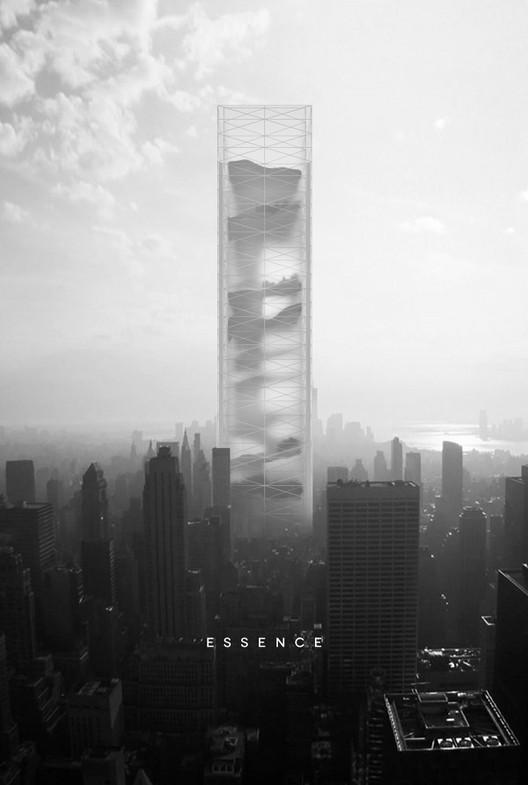 """eVolo anuncia los ganadores del concurso '2015 Skyscraper Competition', Primer lugar: """"Essence Skyscraper"""" / BOMP (Ewa Odyjas, Agnieszka Morga, Konrad Basan, Jakub Pudo).  Imagen cortesía de eVolo"""