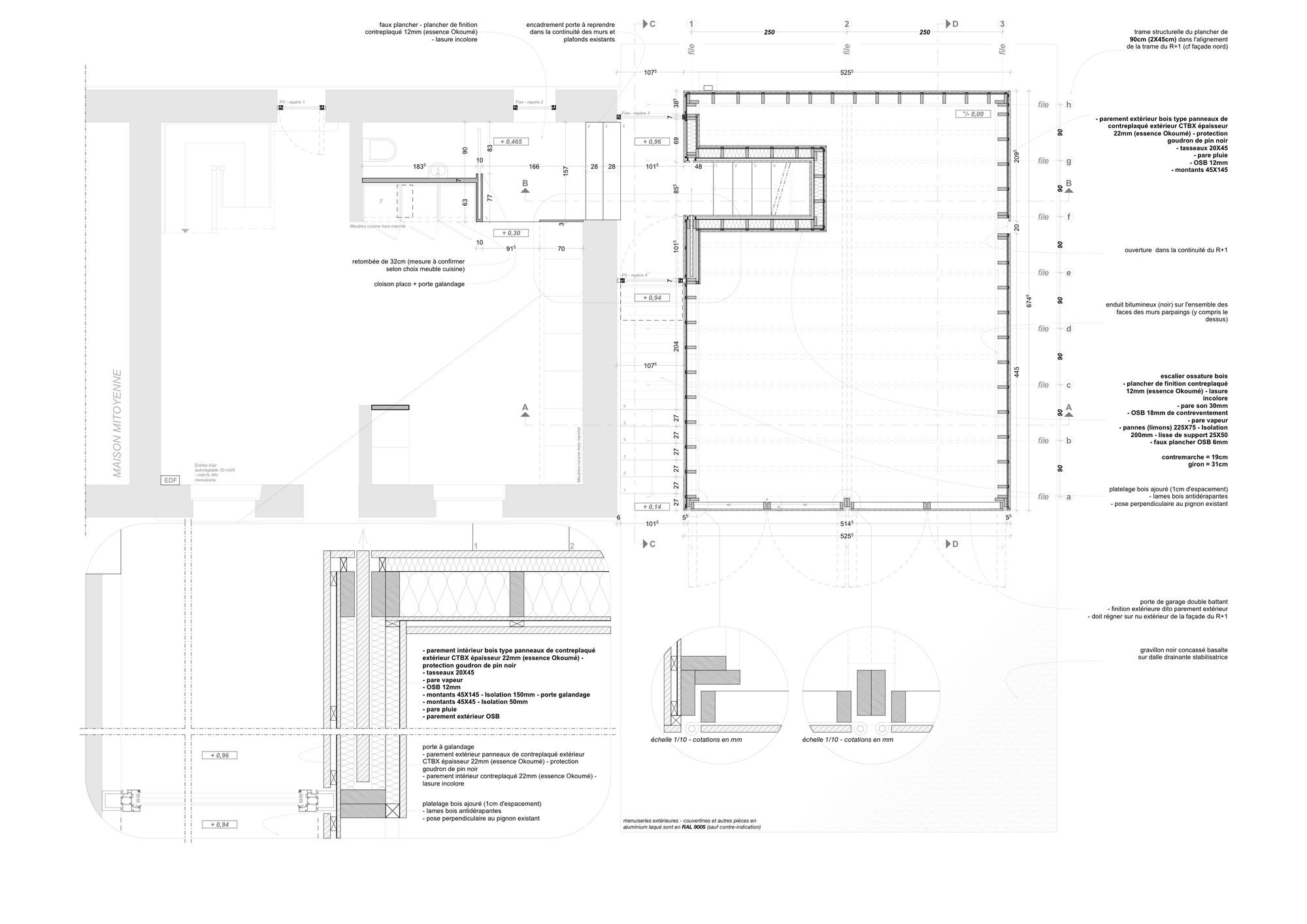 Plan Porte À Galandage gallery of cliffs impasse / ziegler antonin architecte - 34