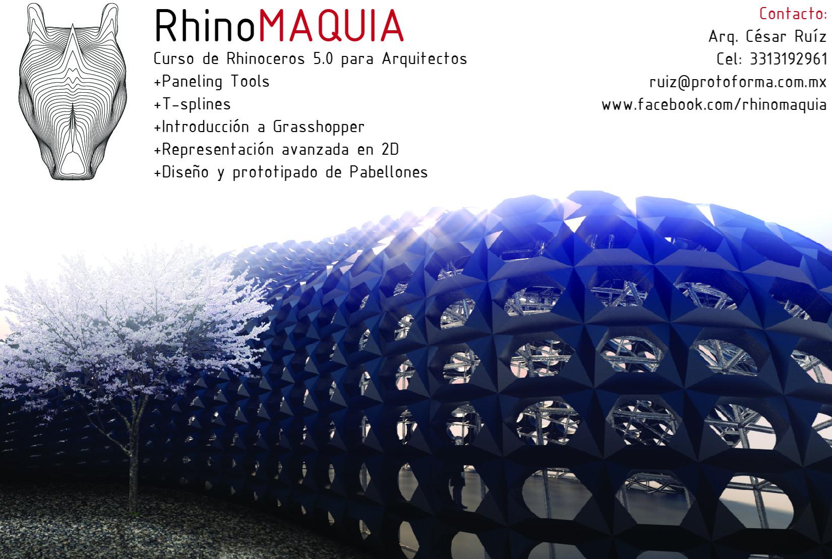 Rhinomaquia abril 2015 curso de rhinoceros 5 0 para for Cursos para arquitectos
