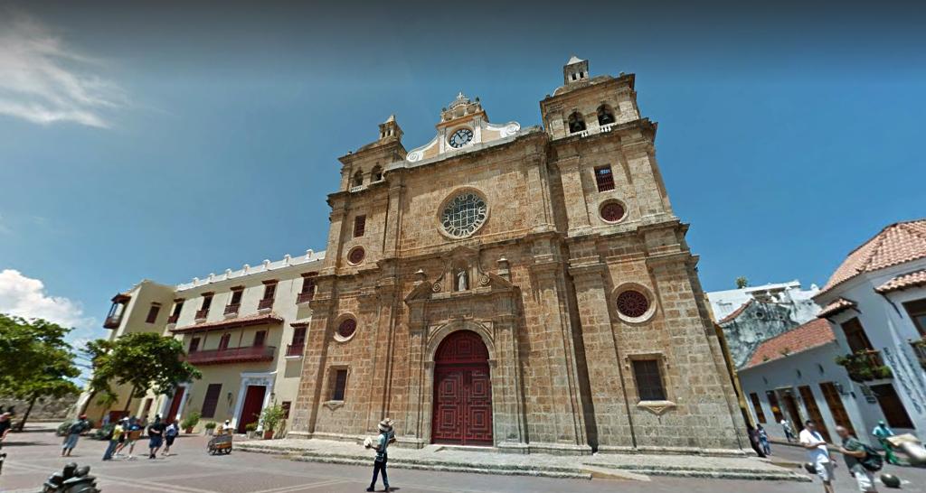 Panoramas de 18 ícones culturais colombianos, Igreja San Pedro Claver, Cartagena. Imagem Image via Google Street View