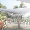 Feria de las Flores en actual sendero vehicular. Image Cortesia de Mario Pérez de Arce Arquitectos y Asociados
