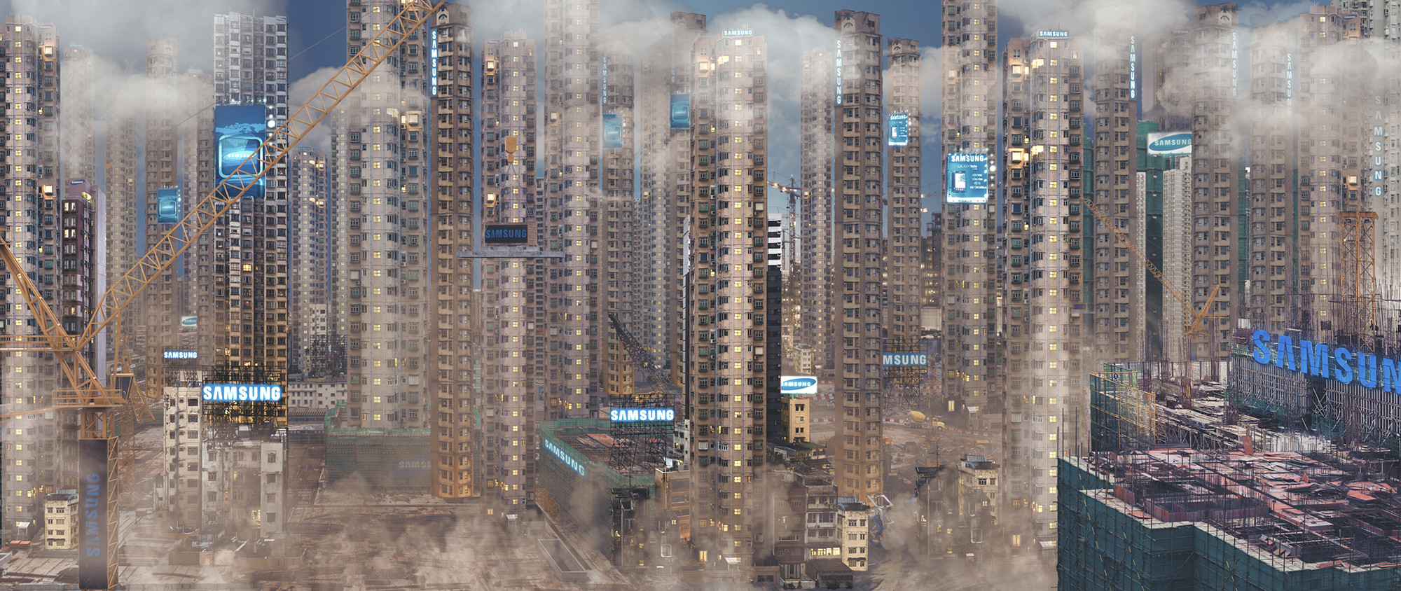 "Corporate Dystopia: Liam Young Imagines a World in which Tech Companies Own Our Cities , From ""Keeping up Appearances"". Image Courtesy of Liam Young"