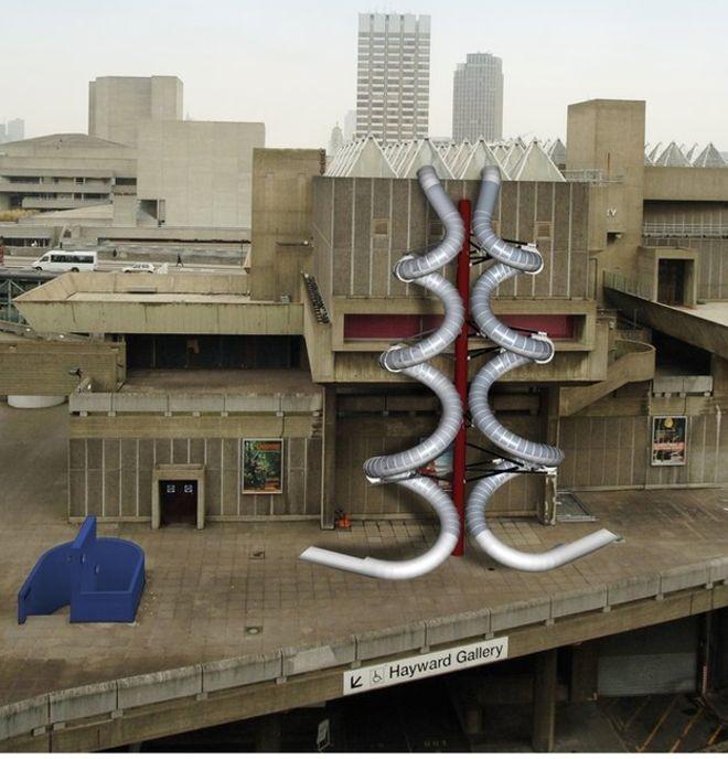 Carsten Höller's Giant Slides Return to London, via BBC