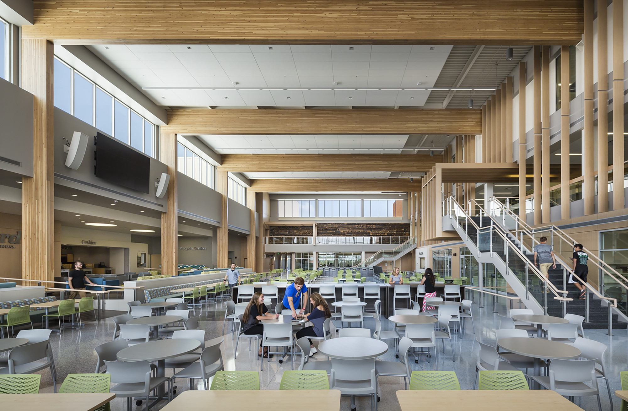 Alexandria Area High School Cuningham Group Architecture Archdaily