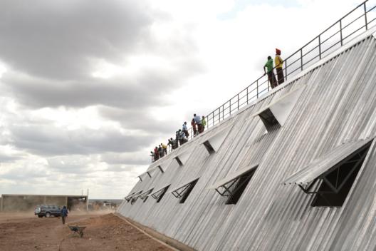 Waterbank Stadium under construction, photo credit: A.Maganga. Image Courtesy of PITCHAfrica