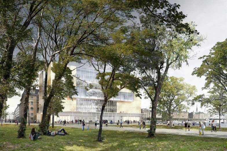 Norrmalm City District Sides with Nobel Foundation, Courtesy of David Chipperfield Architects