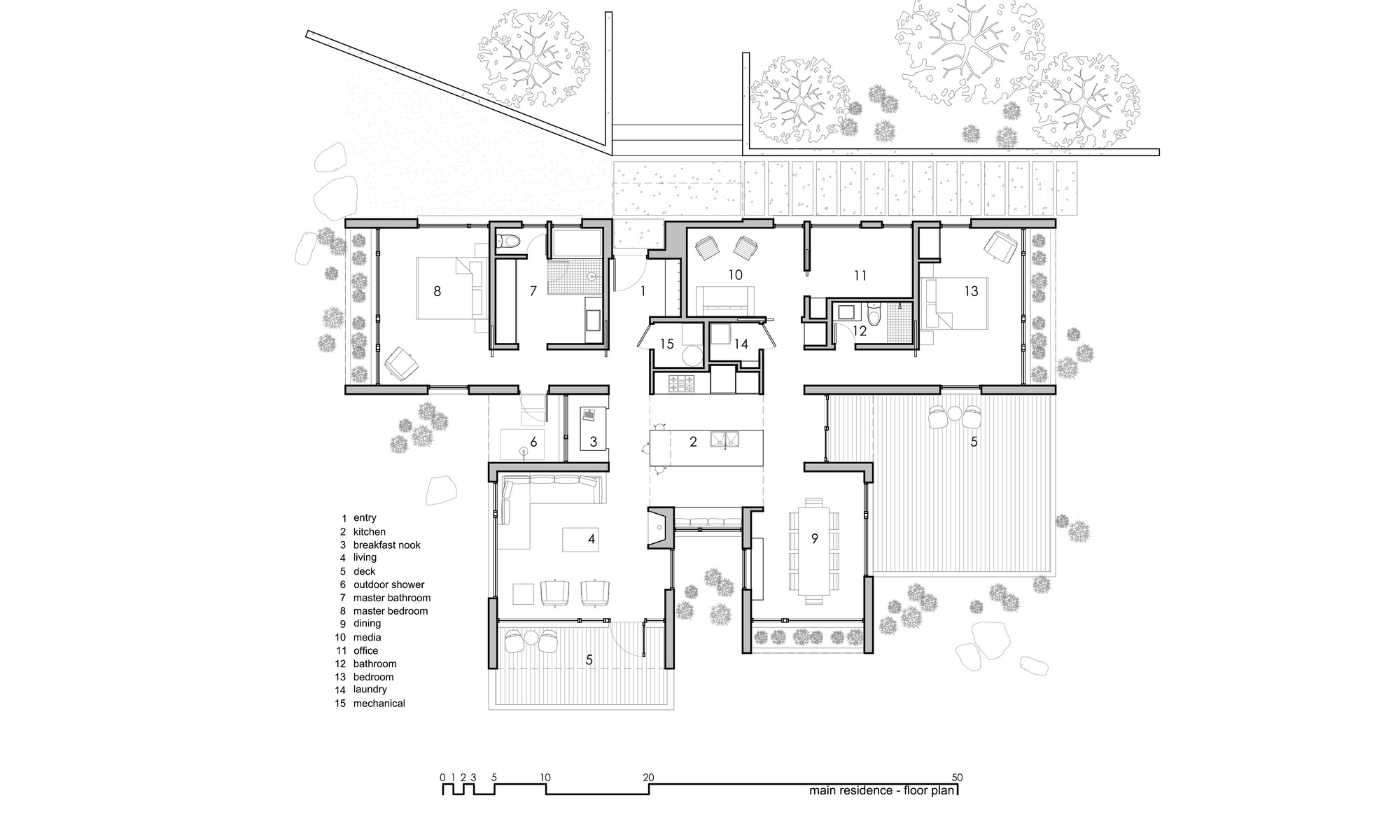 Elegant Main Residence Floor Plan