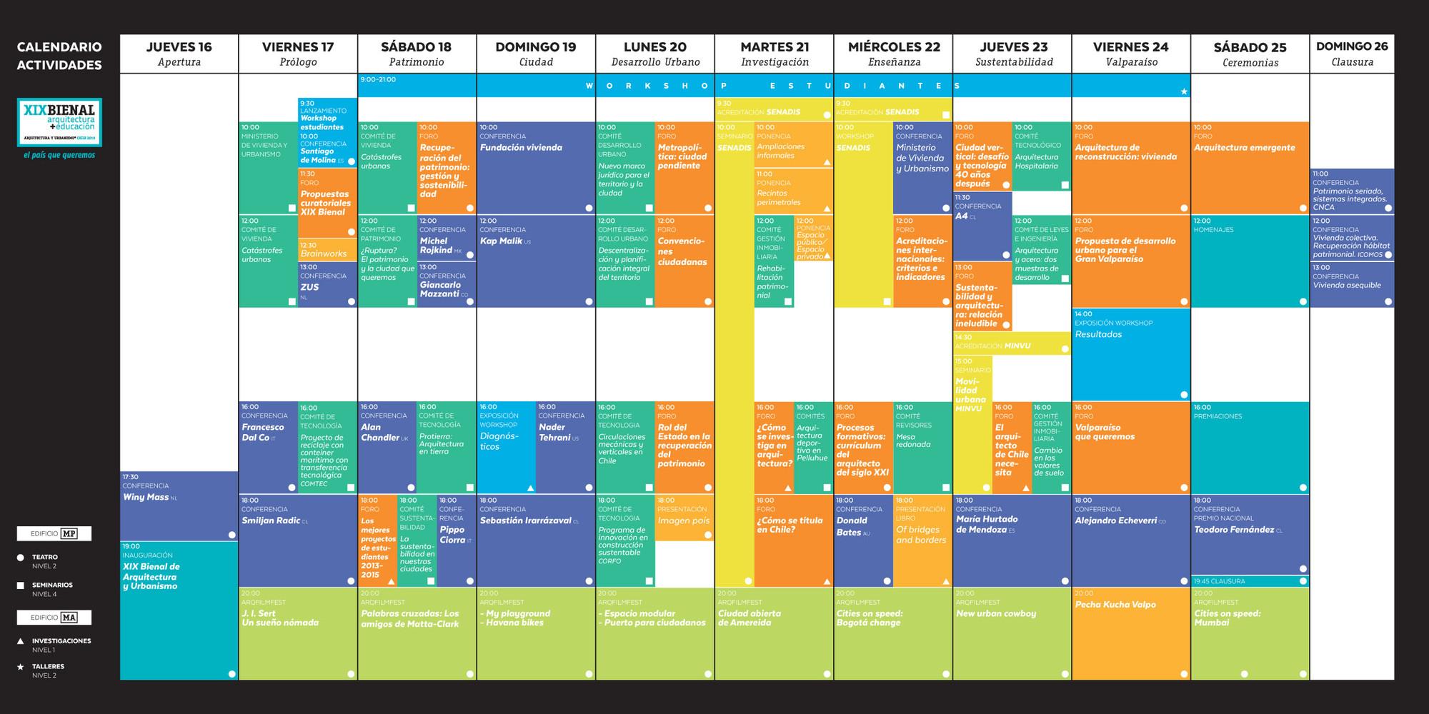 Conoce el programa completo de actividades gratuitas en la for Programas de arquitectura