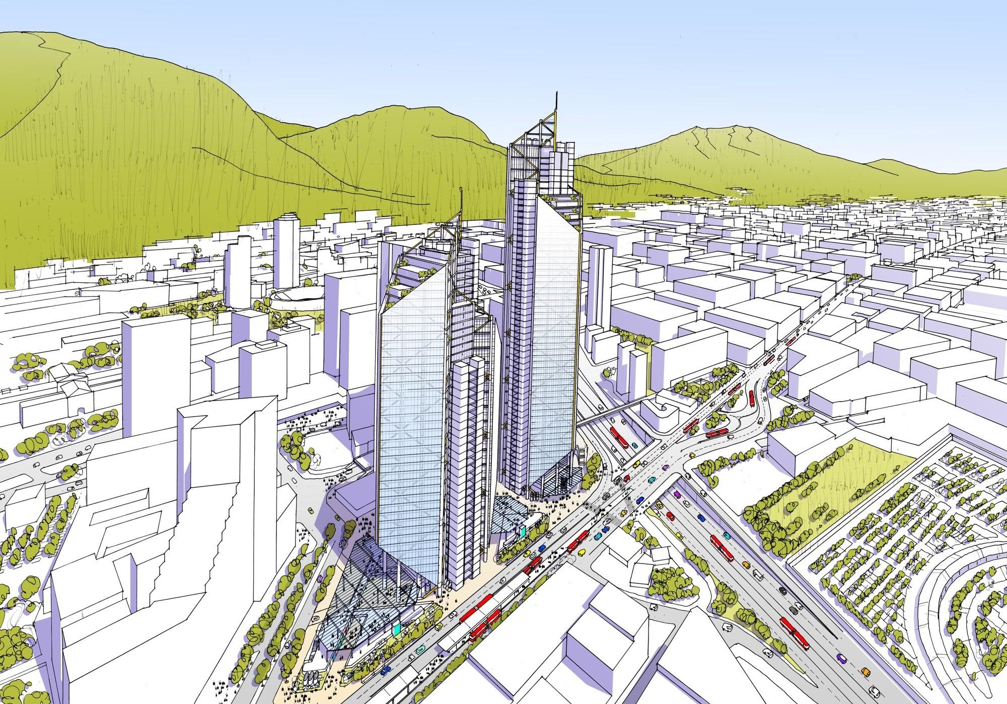 Richard Rogers en Colombia: 'La arquitectura es también política', Proyecto ATRIO en Bogotá. Image © RSHP
