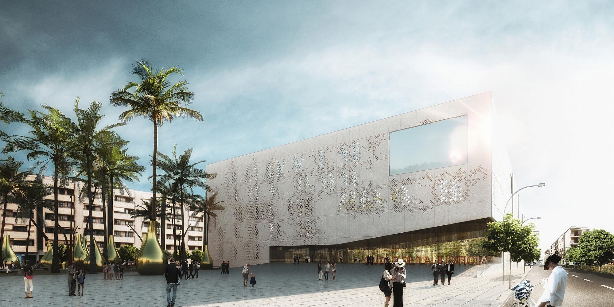 Iniciadas as obras do Palácio de Justiça de Córdoba projetado pelo Mecanoo, Cortesia de Mecanoo
