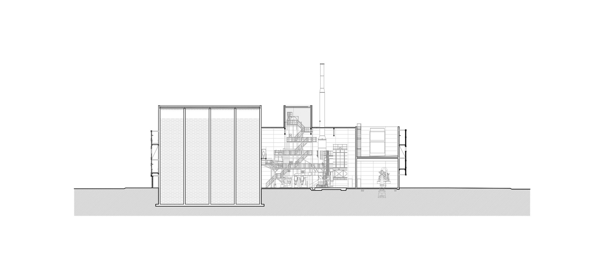 Gallery Of Barcelona Sur Power Generation Plant Forgas Arquitectes Generator Diagram Plantelevation 2