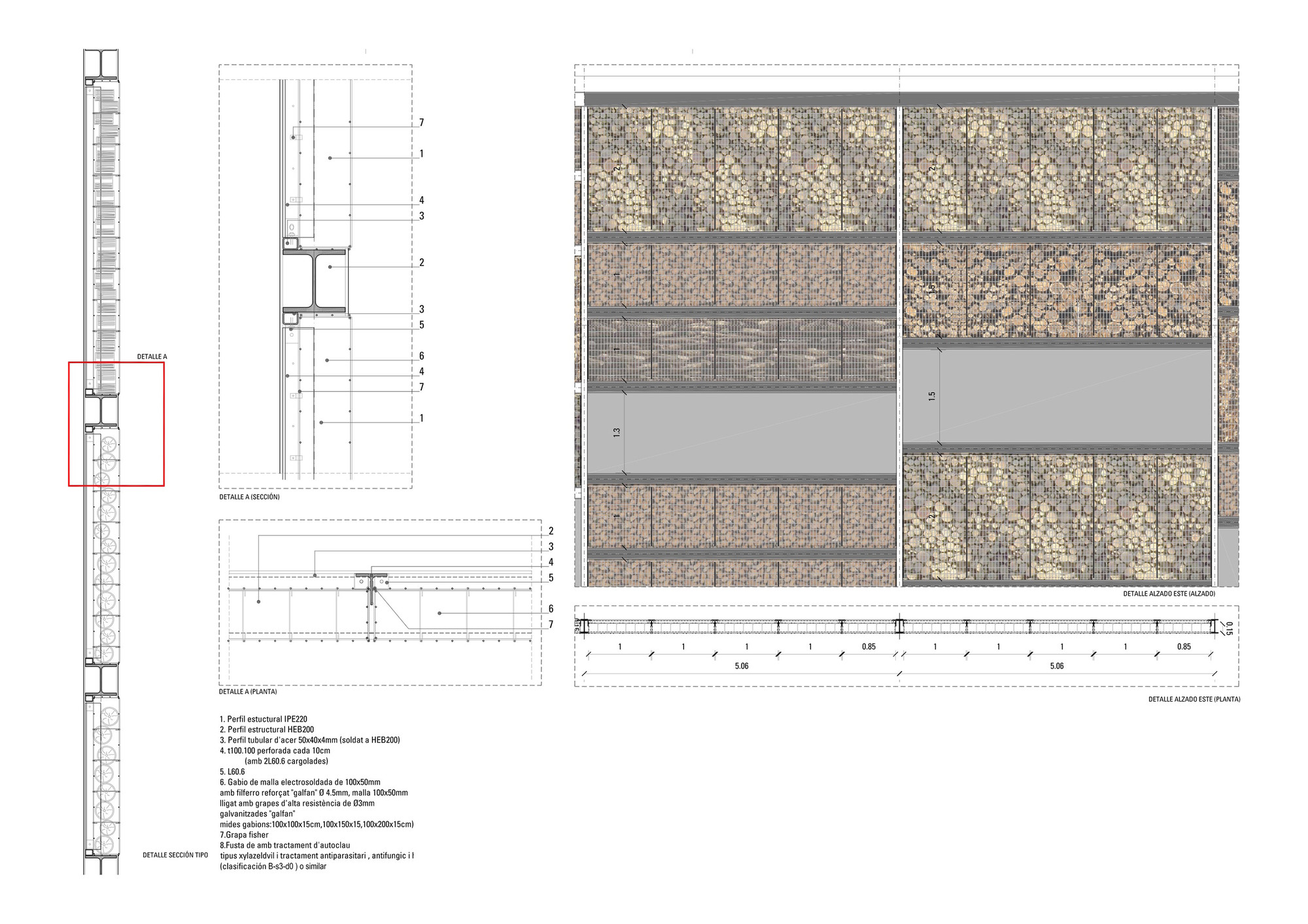 Barcelona Sur Power Generation Plant Forgas Arquitectes Archdaily Diagram Of Detail 2